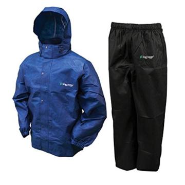 Frogg Toggs All Sport Rain Suit, Royal Blue Jacket/Black Pants, Size Medium