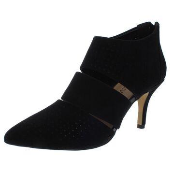 Bella Vita Womens Danica Leather Ankle Heels