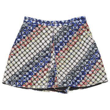 Marco De Vincenzo Multicolour Polyester Shorts