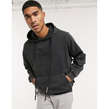 Religion washed logo hoodie in gray