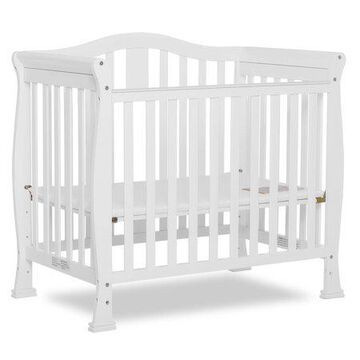 Dream On Me Naples 4-in-1 Convertible Mini Crib in White