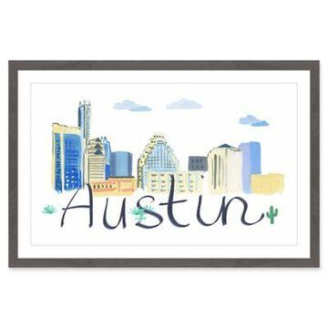 Marmont Hill Austin Cityscape 18-Inch x 12-Inch Framed Wall Art