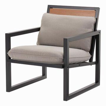 Mainstays Lindholm Way Patio Lounge Chair with Cushions, Set of 2