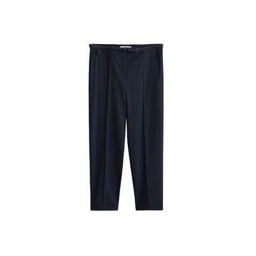 Violeta BY MANGO - Check pants dark navy - 18 - Plus sizes