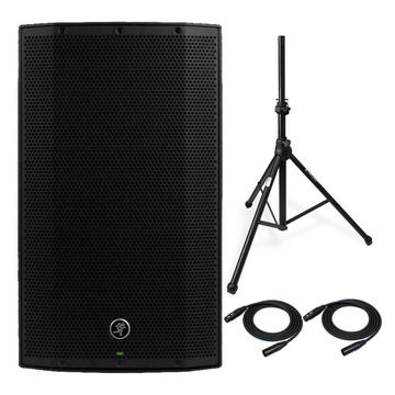 Mackie Thump12BST Thump Boosted Loudspeaker with Speaker Stand and 2 XLR Cables