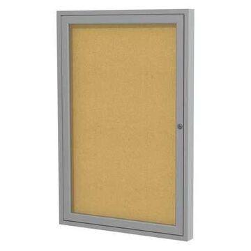 GHENT PA12418K Enclosed Cork Bulletin Board 24x18 In., 1 Door