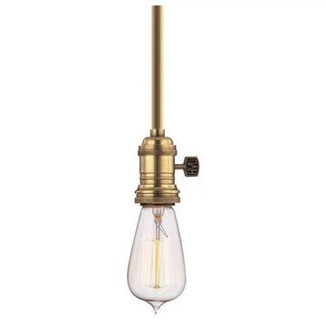 Hudson Valley Heirloom 1 Light Pendant in Aged Brass