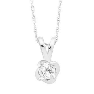 Boston Bay Diamonds Sterling Silver Birthstone Swirl Pendant Necklace