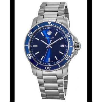 Movado 800 Blue Dial Steel Men's Watch 2600137 2600137