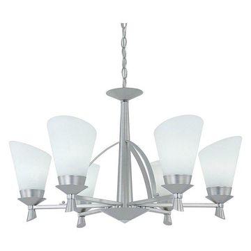 Designers Fountain Satin Platinum-Chrome Nixon Chandelier