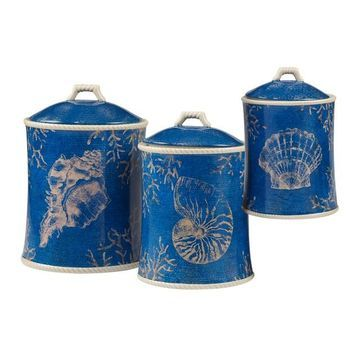 Certified International Seaside 3-piece Canister Set