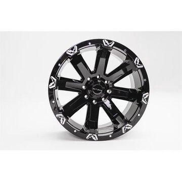 Fab Fours 1710-24270B FF521 Series Black Wheel
