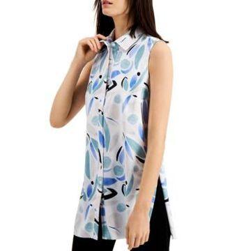Alfani Petite Printed Tunic Shirt, Created for Macy's