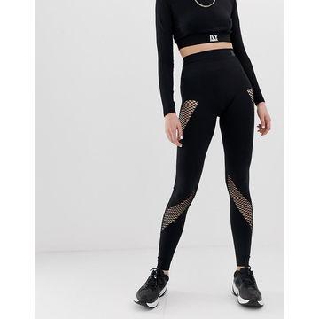 Ivy Park Active Mesh Panel Circular Knit Leggings In Black