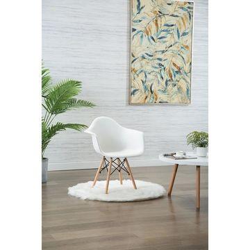 Porthos Home Eban Modern Dining Chairs, Polypropylene (PP) & Beech Wood, Set Of 2