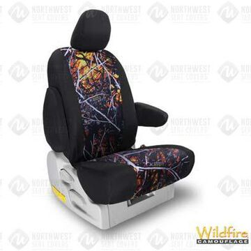 NorthWest Camo Seat Covers, 3rd-Row Seat Covers in Moon Shine Wildfire w/ Black Sides, FF0