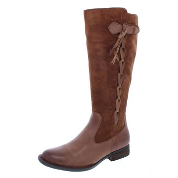 Born Womens Cook Wide Calf Suede Riding Boots