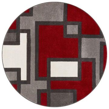 Well Woven Ruby Red Area Rug, 5'3