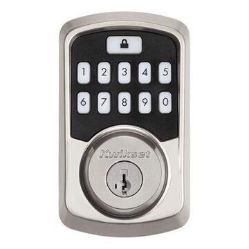 AURA Bluetooth Keypad Smart Lock featuring SmartKey Security,Satin Nickel