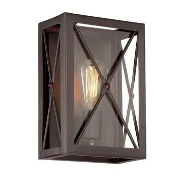 Designers Fountain High Line 7.5-in W 1-Light Satin Bronze Transitional Wall Sconce | 87301-SB