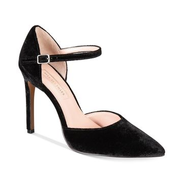 Avec Les Filles Womens Carly Pointed Toe Ankle Strap