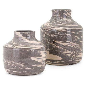 IMAX Home 15266-2 Williams Two Piece Ceramic Vase Set