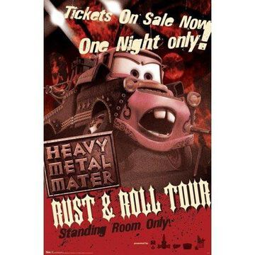 Trends International Cars Toons Heavy Metal Mater Wall Poster 22.375