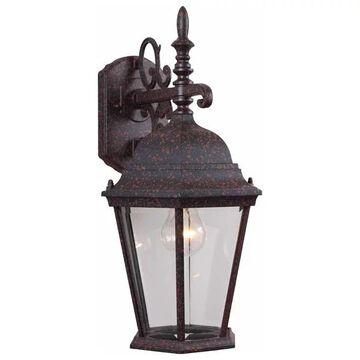 Volume Lighting 1-Light Rust Outdoor Wall Sconce