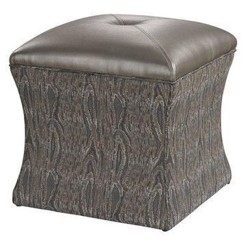 Sterling Luxe Ottoman, Gray