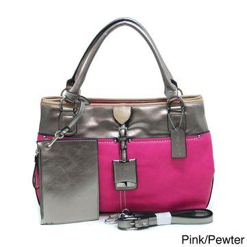 Dasein Women's Metallic Contrast Shoulder Bag