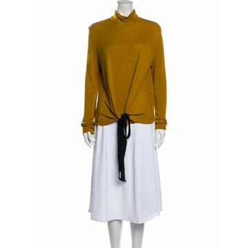 Vintage Strap-Accented Blouse Yellow