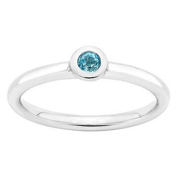 Boston Bay Diamonds Sterling Silver Bezel Set Blue Topaz Stack Ring, Women's, Size: 7