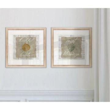 Wexford Home 'Thankful Hearts' Framed Wall Art Set