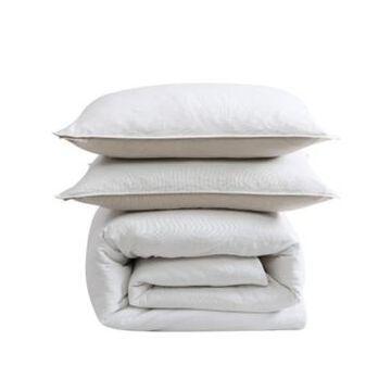 Ed Ellen Degeneres Washed Cotton King Comforter Set, 3 Piece Bedding