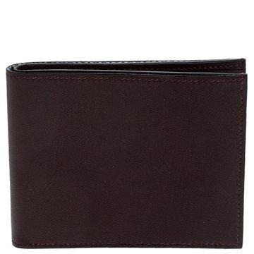 Hermes Bordeaux Swift Leather Bi Fold Wallet