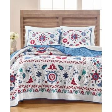 Martha Stewart Collection Vintage Folklore King/Cal King Quilt, Created for Macy's