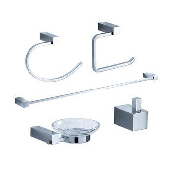 Fresca Fresca Ottimo 5-Piece Bathroom Accessory Set- Chrome