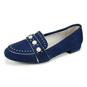 Rialto Womens Golda Fabric Almond Toe Loafers