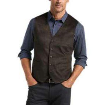 Joseph Abboud Brown Velvet Vest