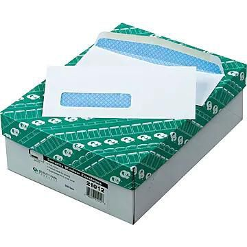"""Quality Park Gummed Catalog Envelope, 3 5/8"""" x 8 5/8"""", White, 500/Box (21012)"""