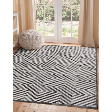 Corona Natural Hide Charcoal/Ivory Area Rug by Greyson Living
