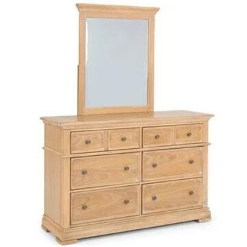 Manor House Dresser & Mirror by Home Styles (6-drawer - Natural)