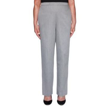 Alfred Dunner Petite Well Red Sateen Pants