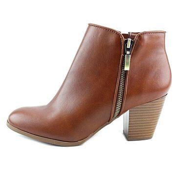 Style & Co. Womens Jamila Leather Almond Toe Ankle Fashion