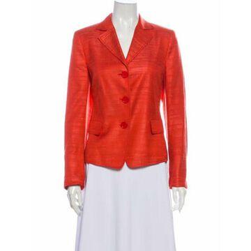 Silk Blazer Red