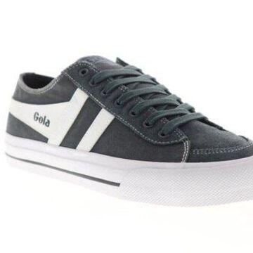 Gola Quota II Graphite White Mens Low Top Sneakers