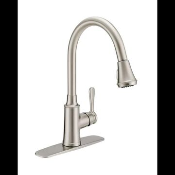 PROFLO PFXCM1M214 1.8 GPM Single Hole Pull Down Kitchen Faucet Brushed Nickel Faucet Kitchen Single Handle