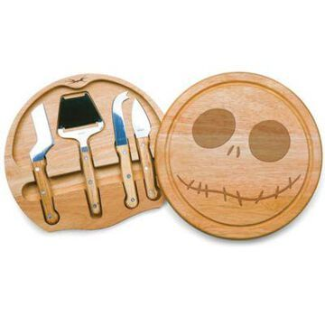 Picnic Time Circo Nightmare Before Christmas Jack Cheese Board Set in Brown