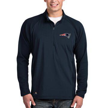 Men's Antigua Navy New England Patriots Sonar Quarter-Zip Pullover Jacket