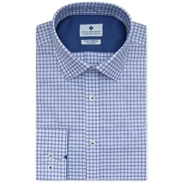 Ryan Seacrest Distinction Men's Ultimate Slim-Fit Non-Iron Performance Stretch Check Dress Shirt, Created for Macy's